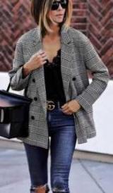 Клетчатый пиджак: фото. Что надеть?