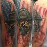 Варианты татуировок на тему пожар