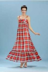 Длинное платье в клетку в пол: фото, идеи для создания изображения
